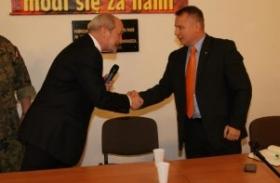 Minister Antoni Macierewicz w Mysłowicach